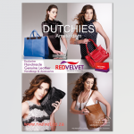 Full page advert for Red Velvet Dutchies bags for Waterfall magazine